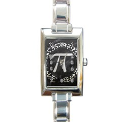 Pi Rectangle Italian Charm Watch by Valentinaart