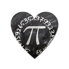 Pi Heart Magnet by Valentinaart