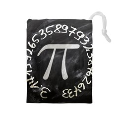 Pi Drawstring Pouches (large)  by Valentinaart