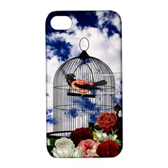 Vintage Bird In The Cage  Apple Iphone 4/4s Hardshell Case With Stand