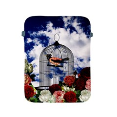 Vintage Bird In The Cage  Apple Ipad 2/3/4 Protective Soft Cases by Valentinaart