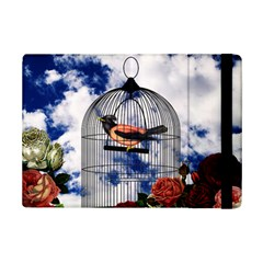 Vintage Bird In The Cage  Ipad Mini 2 Flip Cases by Valentinaart