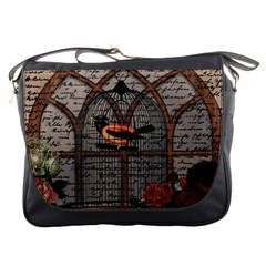 Vintage Bird In The Cage Messenger Bags