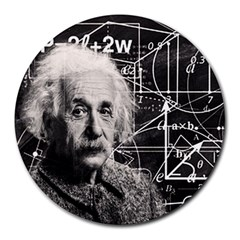 Albert Einstein Round Mousepads by Valentinaart