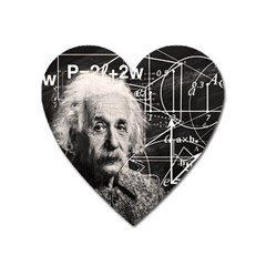 Albert Einstein Heart Magnet by Valentinaart