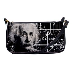 Albert Einstein Shoulder Clutch Bags by Valentinaart