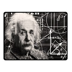 Albert Einstein Fleece Blanket (small) by Valentinaart