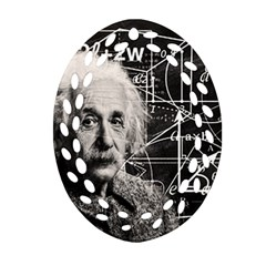 Albert Einstein Oval Filigree Ornament (two Sides) by Valentinaart