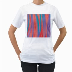 Pattern Women s T Shirt (white) (two Sided)