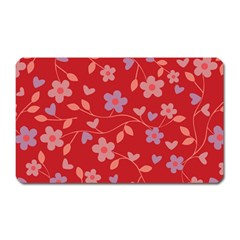 Floral pattern Magnet (Rectangular)
