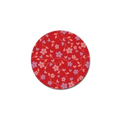 Floral pattern Golf Ball Marker