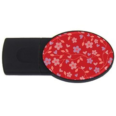 Floral pattern USB Flash Drive Oval (2 GB)