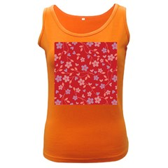 Floral pattern Women s Dark Tank Top