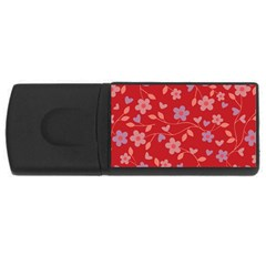 Floral pattern USB Flash Drive Rectangular (4 GB)