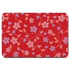 Floral pattern Large Doormat