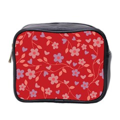 Floral pattern Mini Toiletries Bag 2-Side
