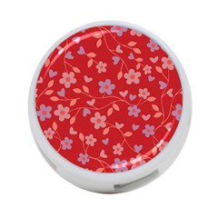Floral pattern 4-Port USB Hub (Two Sides)
