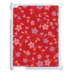Floral pattern Apple iPad 2 Case (White)