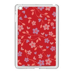 Floral pattern Apple iPad Mini Case (White)