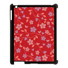 Floral pattern Apple iPad 3/4 Case (Black)
