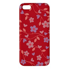 Floral pattern Apple iPhone 5 Premium Hardshell Case
