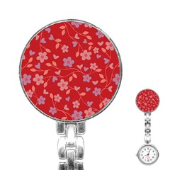 Floral pattern Stainless Steel Nurses Watch