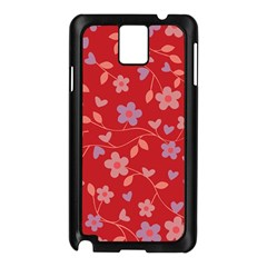 Floral pattern Samsung Galaxy Note 3 N9005 Case (Black)
