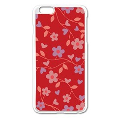 Floral pattern Apple iPhone 6 Plus/6S Plus Enamel White Case