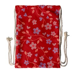 Floral pattern Drawstring Bag (Large)
