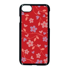 Floral pattern Apple iPhone 7 Seamless Case (Black)