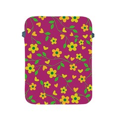 Floral Pattern Apple Ipad 2/3/4 Protective Soft Cases by Valentinaart