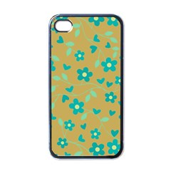 Floral Pattern Apple Iphone 4 Case (black) by Valentinaart