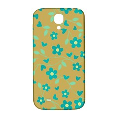 Floral Pattern Samsung Galaxy S4 I9500/i9505  Hardshell Back Case by Valentinaart
