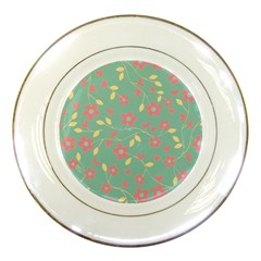 Floral Pattern Porcelain Plates by Valentinaart
