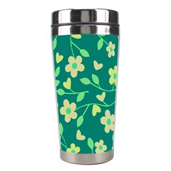 Floral Pattern Stainless Steel Travel Tumblers by Valentinaart