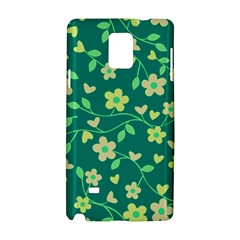 Floral Pattern Samsung Galaxy Note 4 Hardshell Case by Valentinaart