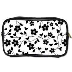 Floral Pattern Toiletries Bags 2 Side by Valentinaart