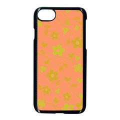 Floral Pattern Apple Iphone 7 Seamless Case (black) by Valentinaart