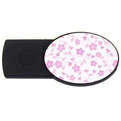Floral Pattern Usb Flash Drive Oval (4 Gb) by Valentinaart