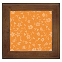 Floral Pattern Framed Tiles