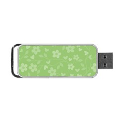 Floral Pattern Portable Usb Flash (two Sides) by Valentinaart