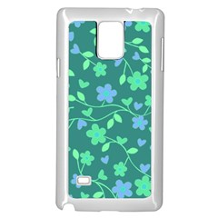 Floral Pattern Samsung Galaxy Note 4 Case (white) by Valentinaart