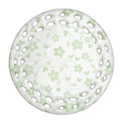 Floral Pattern Round Filigree Ornament (two Sides)