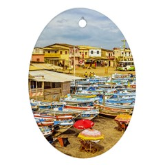 Engabao Beach At Guayas District Ecuador Ornament (oval) by dflcprints