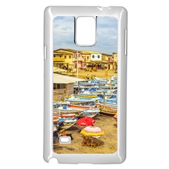Engabao Beach At Guayas District Ecuador Samsung Galaxy Note 4 Case (white) by dflcprints