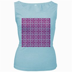 Pattern Women s Baby Blue Tank Top