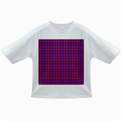 Pattern Plaid Geometric Red Blue Infant/toddler T Shirts by Simbadda