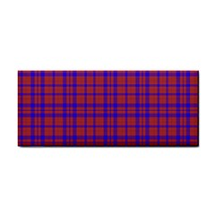 Pattern Plaid Geometric Red Blue Cosmetic Storage Cases by Simbadda