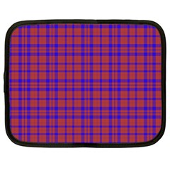 Pattern Plaid Geometric Red Blue Netbook Case (xl)  by Simbadda