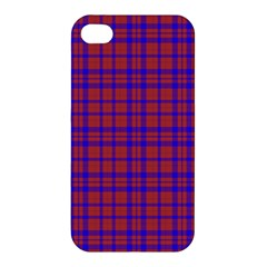 Pattern Plaid Geometric Red Blue Apple Iphone 4/4s Hardshell Case
